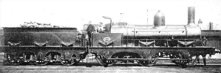 A Six-coupled locomotive once used on the London, Brighton and South Coast Railway