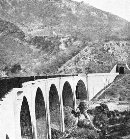LE LOUP VIADUCT on the Provence Railway in Southern France