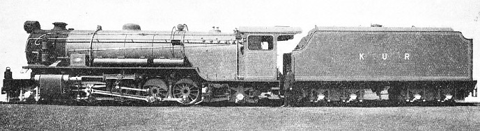 A BRITISH-BUILT ENGINE in service on the Kenya and Uganda Railway