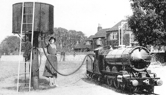 This engine, of a free-lance design in its external lines, weighs six and a half tons and runs on a 15-in gauge garden railway near Tewkesbury