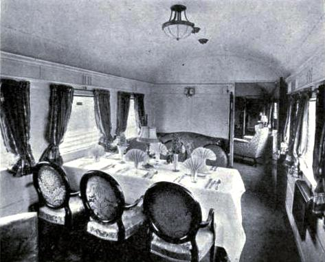 The Dining-room of the King's Car, Great Northern Railway
