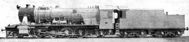 A GOODS LOCOMOTIVE on HEH the Nizam's State Railway