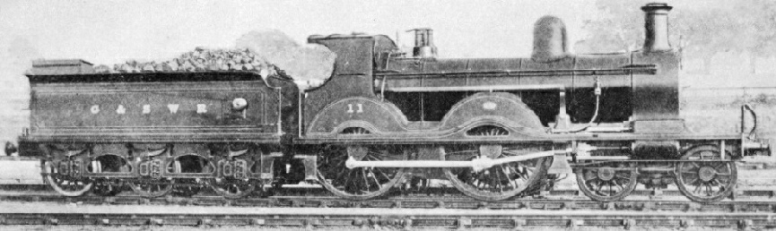 A four-cylinder 4-4-0 engine of 1897
