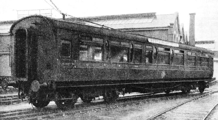 A RESTAURANT CAR owned by the Great Northern Railway of Ireland