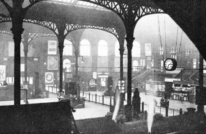 THE INTERIOR OF LIVERPOOL STREET STATION
