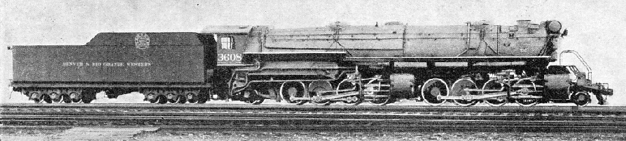 "A ""MALLET"" 2-8-0+0-8-2 locomotive of the Denver and Rio Grande Western Railroad"
