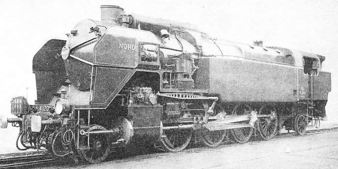French freight locomotive owned by the Nord for hauling heavy goods trains
