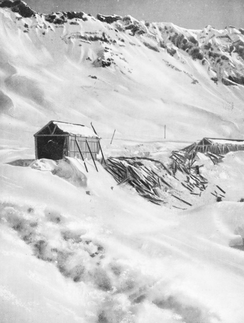 Snow-sheds must be built to protect many sections of the line that cross the formidable barrier of the Andes