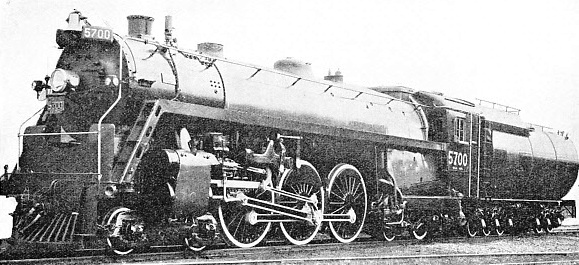 NO. 5700, 4-6-4 EXPRESS LOCOMOTIVE of the Canadian National Railways