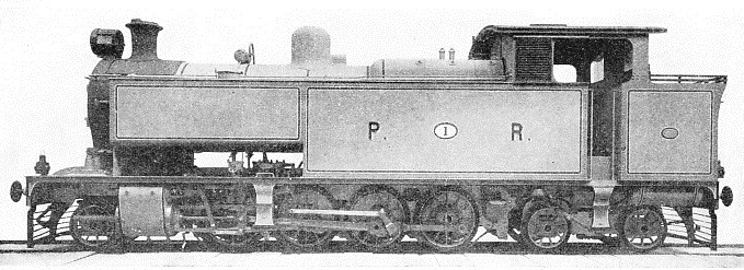 This tank locomotive is a 2-8-4 type and was built by Kitson & Co, Ltd