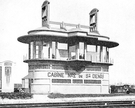 A FRENCH SIGNAL CABIN of artistic design at St. Denis