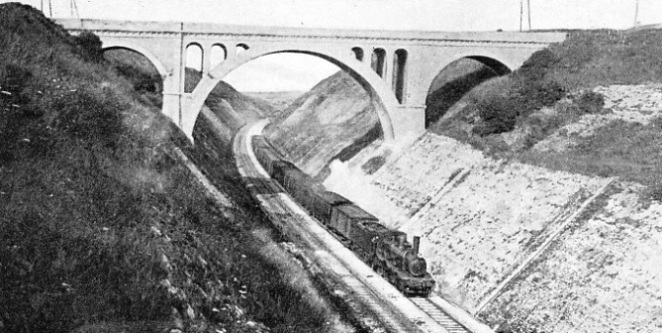 A DEEP CUTTING on the Northern Railway of France near Wimereux