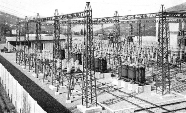 "A TRANSFORMER SUB-STATION on the Rome-Naples ""Direttissima"""