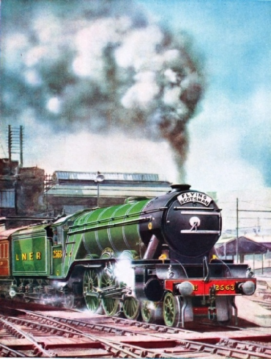 "The ""Flying Scotsman"" leaving King's Cross hauled by No.2563 ""William Whitelaw"""