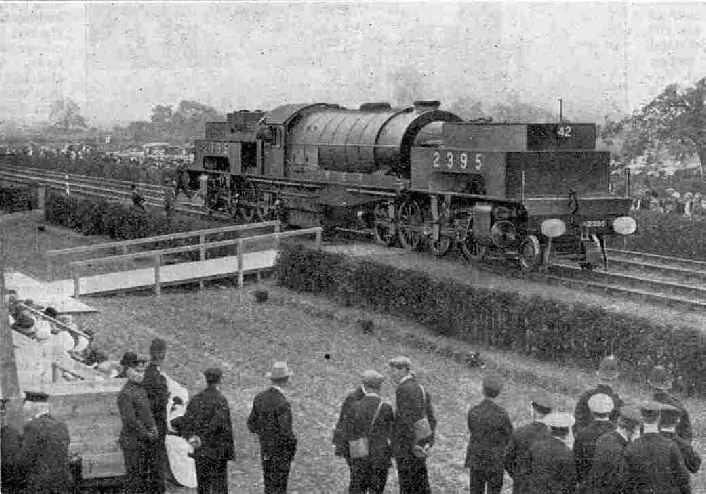 LNER No. 2395, the huge Garratt Articulated loco (2-8 0 : 0-8-2) at the Railway Centenary celebrations