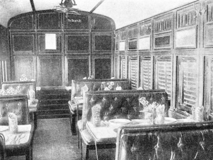 DINING-CAR owned by the International Sleeping Car Company on the Iraq Government Railways