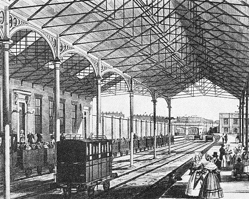 EUSTON STATION IN 1837