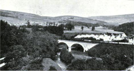Great North of Scotland Railway EXPRESS CROSSING THE FIDDICH VIADUCT