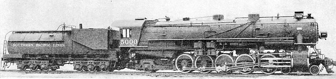 ON THE SOUTHERN PACIFIC, a three-cylinder locomotive of the 4-10-2 wheel arrangement