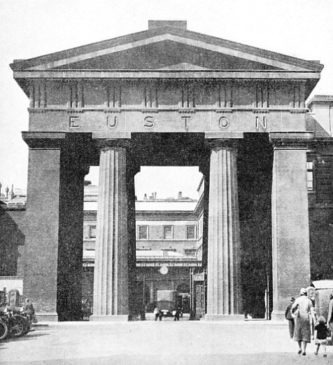 DORIC COLUMNS are embodied in this entrance to Euston Station