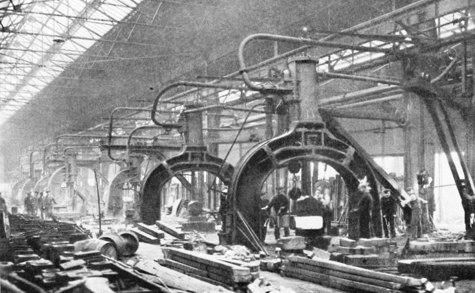 Steam hammers at Queen's Park Works, Glasgow