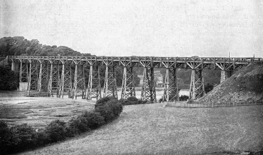 ONE OF BRUNEL'S TIMBER VIADUCTS IN CORNWALL