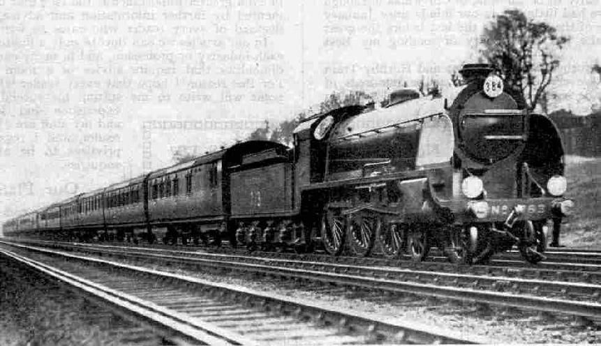 Down Bournemouth Express hauled by a King Arthur class