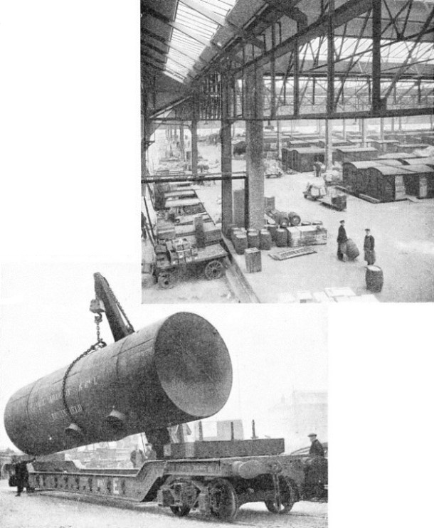 Temple Meads goods station and carrying a huge boiler