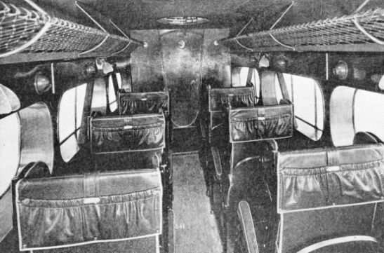 CABIN OF A D.H.86B BIPLANE used by the Railway Air Services