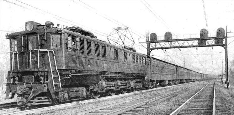 An Electric Express train of the Pennsylvania Railroad