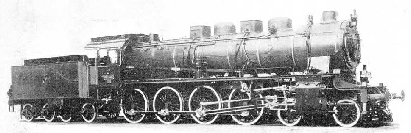 "GERMAN-BUILT LOCOMOTIVE of the type used to haul the ""Taurus Express"""