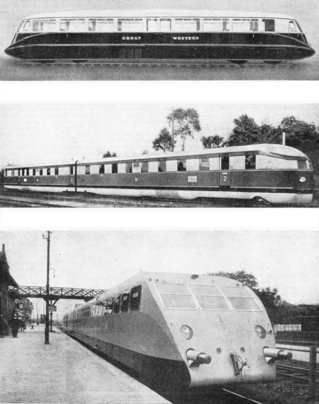 Streamlined diesel trains