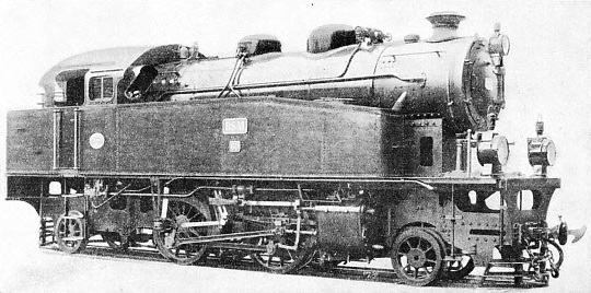 A 2-4-2 tank locomotive in operation on the Deli Railway of Sumatra