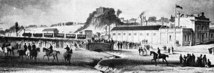Nottingham Station in 1839