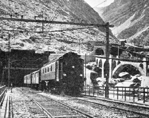 THE ENTRANCE to the great St. Gothard Tunnel at Göschenen