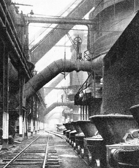 a row of blast-furnaces