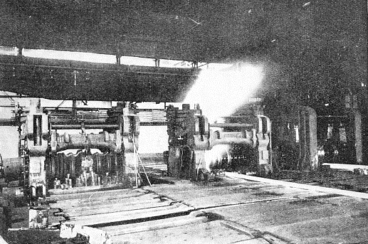 THE FINAL STAGE of rolling takes place in the finishing mill