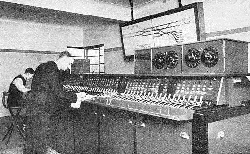 THE INTERIOR OF THE SIGNAL CABIN at Arnos Grove