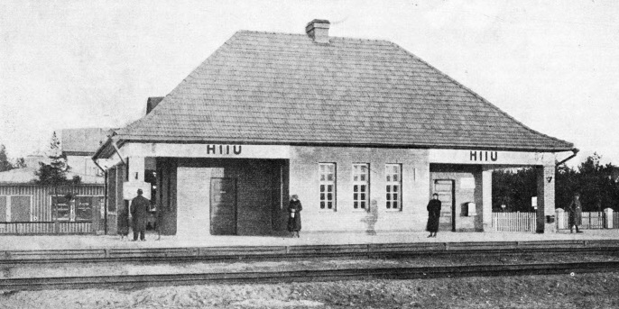 Hiiu, a country railway station in Estonia