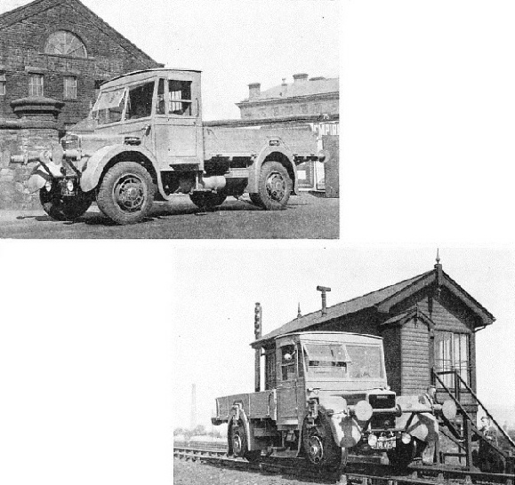 Road-rail lorry built by Karrier Motors