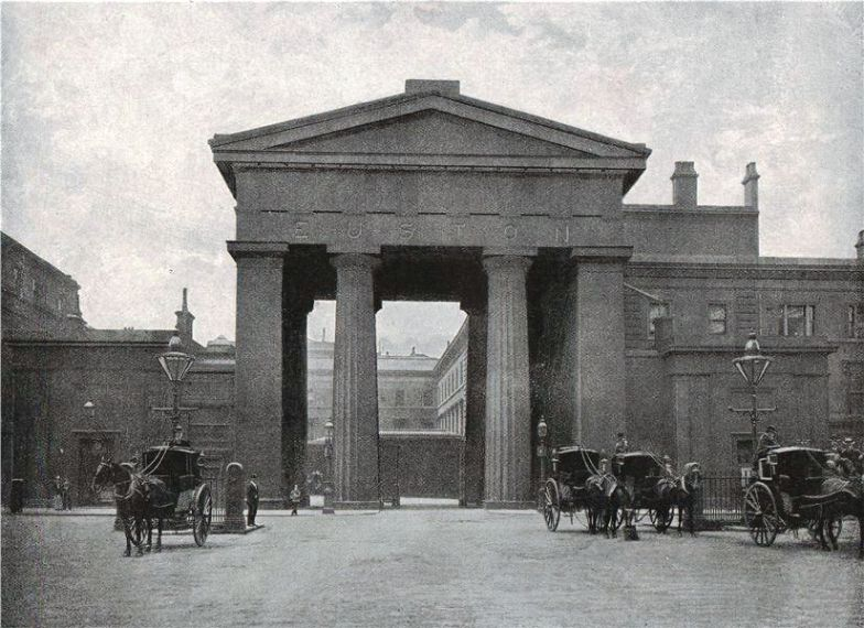 The Entrance to Euston Station, London & North Western Railway