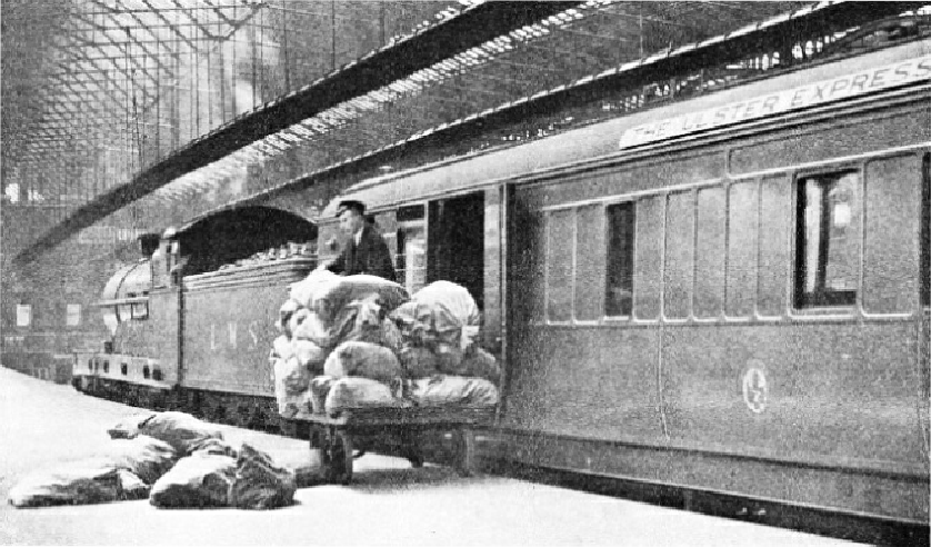 "THE UP ""ULSTER EXPRESS"" at the end of the journey at Euston Station"