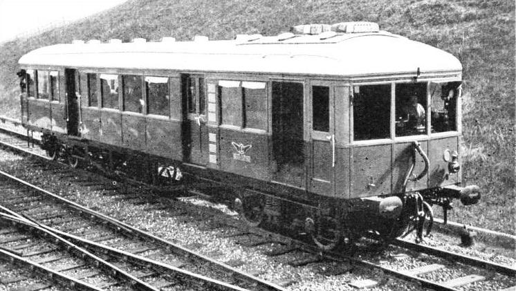 A diesel-electric rail-car running on the LMS