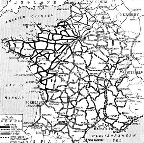 ALL THE MAIN RAILWAYS OF FRANCE