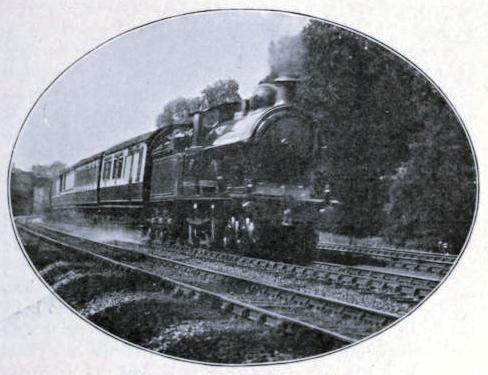 Picking up water in speed, London & North Western Railway