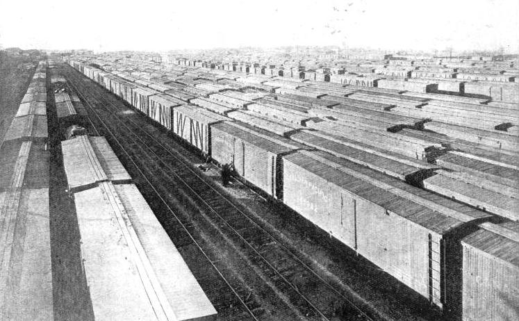 The Canadian Pacific Railway Co's concentration yards at Winnipeg