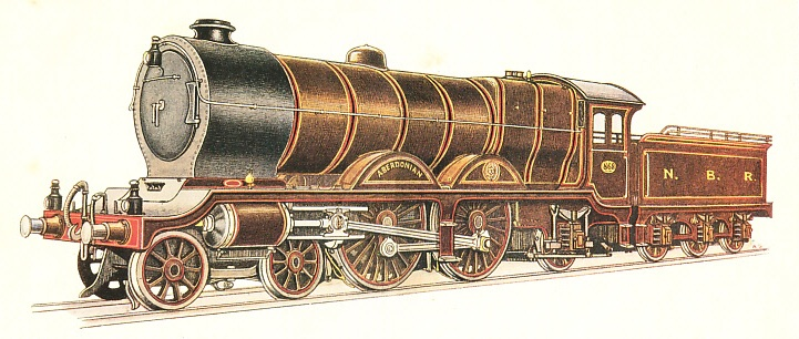 NORTH BRITISH RAILWAY EXPRESS PASSENGER LOCOMOTIVE, No. 868
