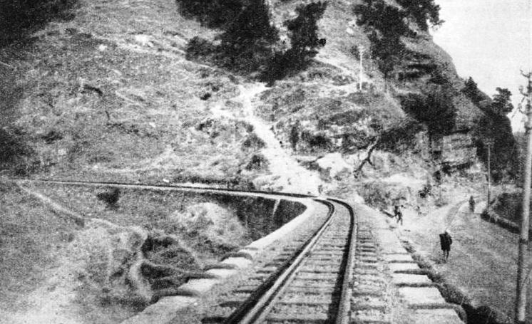 WELL-KEPT PERMANENT WAY maintained on the Kalka-Simla line