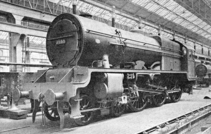 A Royal Scot class locomotive at Derby Works
