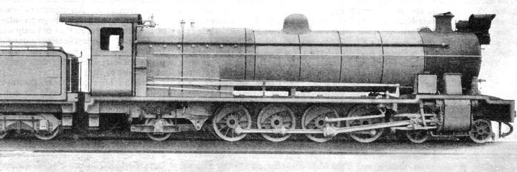 HEAVY 4-8-2 GOODS LOCOMOTIVE, built for the 3 ft 6-in gauge of the Gold Coast Government Railways